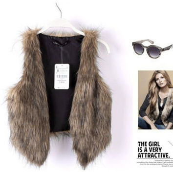Best Vintage Fur Vest Products on Wanelo