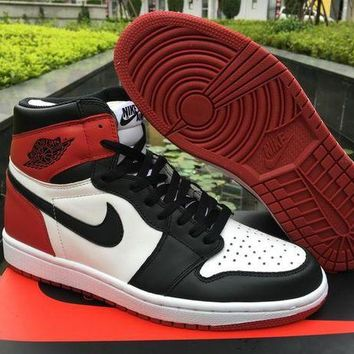 UCANUJ3V air jordan 1 og black toe men basketball shoes-1