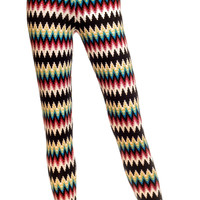 Leggsington Ziggy Soft Warm Winter Knit Zigzag Leggings