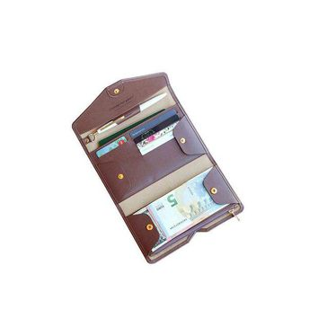 ONETOW Fashion Detachable Women PU Leather Travel Passport Wallet Multi Card Pocket Solid Color Threefold Hasp Passport Cover
