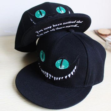 Xuyijun 2018 Alice Wonderland Cheshire Cat cartoon baseball caps BUGS BUNNY SYLVESTER hats for Men and Women snapback hiphop