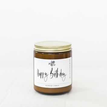 "PROMENADE FIELD ""HAPPY BIRTHDAY"" CANDLE"