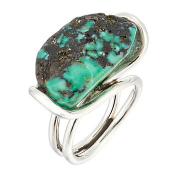 King Baby Studio Wire Ring w/ a Natural Turquoise Stone Silver/Turquoise - Zappos.com Free Shipping BOTH Ways