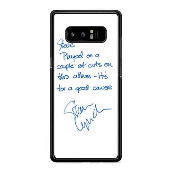 Tom Petty And The Heartbreakers Signature Samsung Galaxy Note 8 Case