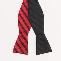 Reversible Bow Tie Black Stripe to Red Stripe