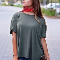 Army PIKO Twist Sleeve Tee