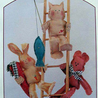 Sunshine Friends Bunny Rabbit Cat and Bear Pattern
