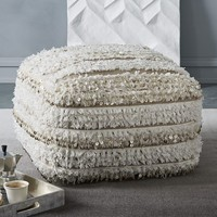 Striped Moroccan Wedding Pouf