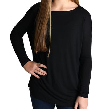 Black Piko Kids Long Sleeve Top