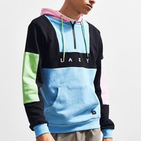 Lazy Oaf Color Panel Hoodie Sweatshirt | Urban Outfitters
