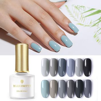 BORN PRETTY Grey Series Nail Gel Polish 6ml Pure Color Nude Black UV Gel Lacquer Varnish Soak Off Nail Art Manicure Accessories