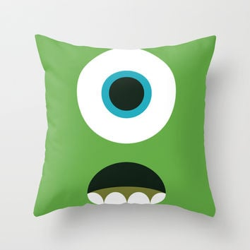 Mike Wazowski Throw Pillow by Adrian Mentus