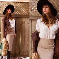 Vintage Skirt //    {WinterSafari} by Justyna Baraniecki // LOOKBOOK.nu