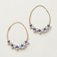 Sparked Gem Hoops by Anthropologie