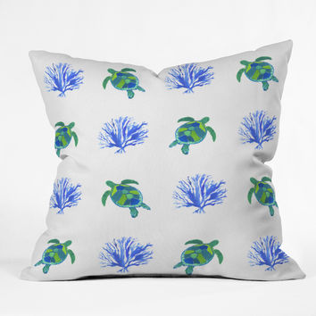 Laura Trevey Sea Turtles Outdoor Throw Pillow