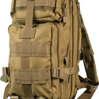 Outdoor Hiking School Backpack Brown Oxford Cloth Nylon