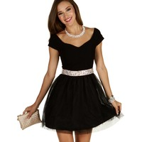 Juliette-black Party Dress