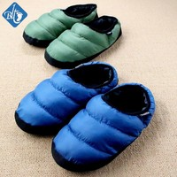Winter Warm Down Cotton Slipper Couple House Slippers Cotton-padded Indoor Pantufa Pink Terlik Home Shoes Unisex