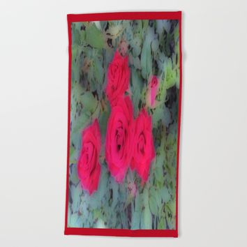 Roses  Beach Towel by Jessica Ivy