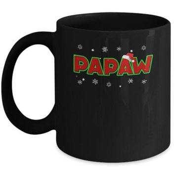 IKCKIJ3 Papaw Christmas Santa Ugly Sweater Gift Mug