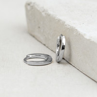 Plain Mini Ear Huggies - Silver