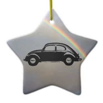 Classic Bug Double-Sided Star Ceramic Christmas Ornament