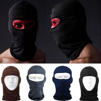 Hot Sale  Protection Full Face Lycra Balaclava Headwear Ski Neck Cycling Motorcycle Mask Skullies Beanies S703
