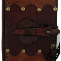 4x5 Small Leather Journal with Latch