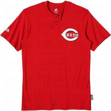 Cincinnati Reds (YOUTH LARGE) Cool Base Moisture Management Two-Button MLB Officially