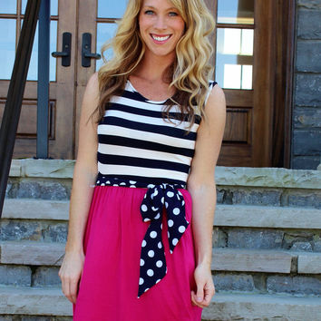 Polka Dot Pop Dress Pink