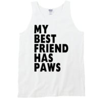 Best Friend Has Paws Tank Top by 99 Crowncat - Words Print Tees - Tank Tops