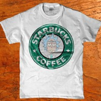 Rick and morty Starbucks coffee adult t-shirt