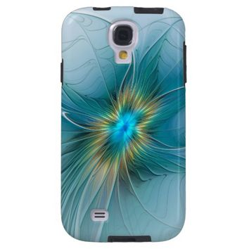 The little Beauty, Abstract Fractal Art with blue Galaxy S4 Case