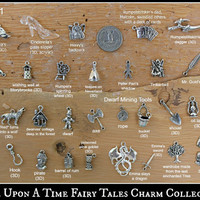 Once Upon A Time Fairy Tales OUAT Themed Pewter Charm Collection EXTENSIVE