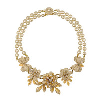 Miriam Haskell Floral Statement Necklace | SOPHIESCLOSET.COM | Designer Jewelry & Accessories