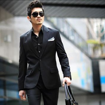 Men's business suits set men suit+pants wedding suits for men clothing