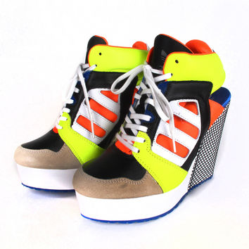 adidas Originals Blue Streetball Platform Wedge | Patricia Field