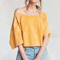 Silence + Noise Asymmetrical Off-The-Shoulder Tee - Urban Outfitters