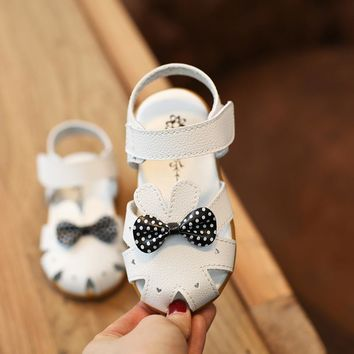 fashion kids shoes 2017 summer new pink flowers tendon bottom shoes girls princess shoes kids girl childrens leather sandals boy