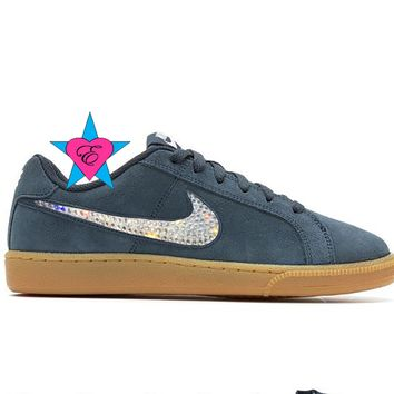 Bling Crystal Bedazzled Sparkly Women's Nike CK Racer Sneakers
