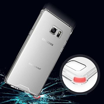 Anti knock Clear Protective Case For Samsung galaxy S7 Edge Case Coque Shockproof Hard back cover For S7 case Fundas