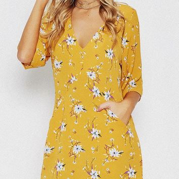 Grow Ahead Floral Dress