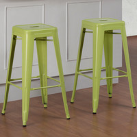 Tabouret 30-inch Limeade Metal Bar Stools (Set of 2)