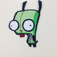 Taco Loving Alien Embroidered Iron On Patch,  Cartoon Iron On Patch, TV Novelty Patch, Geeky Patch, Robot Servant Patch