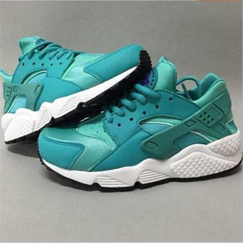 """NIKE"" Women Casual Huarache Running Sport Shoes Sneakers Green"