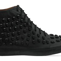 Jeffrey Campbell Skull Sk8r in Black Black at Solestruck.com