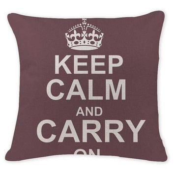 Keep Calm and Carry On - Dark Brown