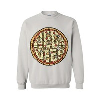 Pizza White Crewneck : HLR0 : Neck Deep