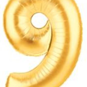 "Number Nine 40"" Foil Balloon"