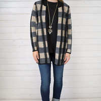 Square One Open Sweater Cardigan